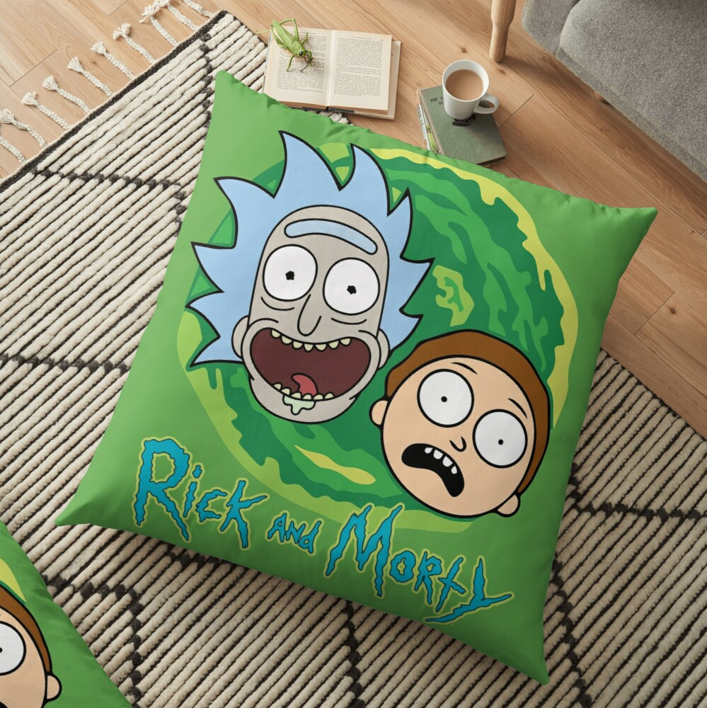 Rick and Morty Portal Floor Pillow