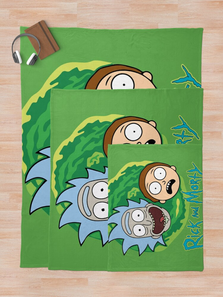 Alternate view of Rick and Morty Portal Throw Blanket