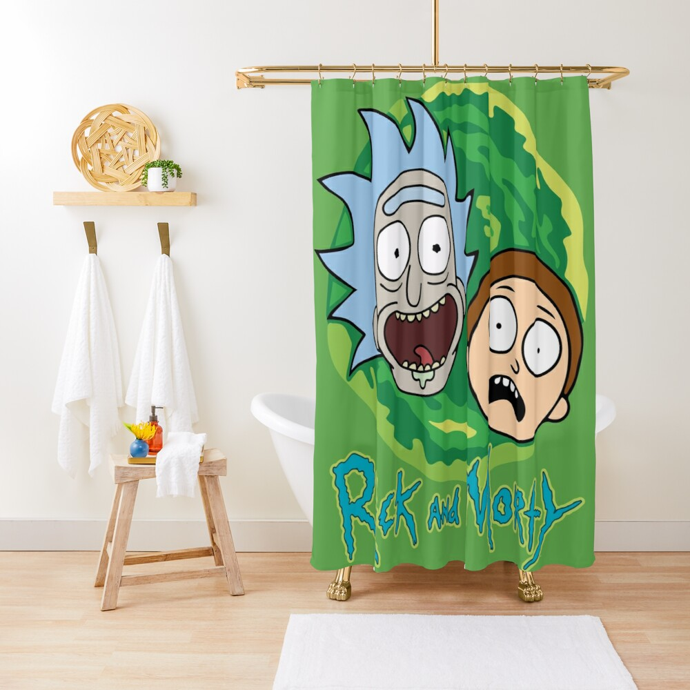Rick and Morty Portal Shower Curtain