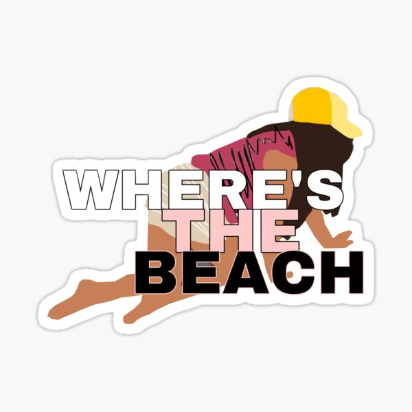 Where's the Beach? Sticker