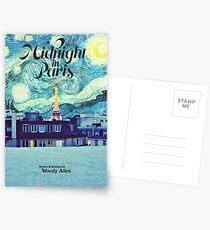 Midnight In Paris Poster Postkarten