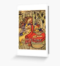 I Support Public Breastfeeding (Oskar Kokoschka, Mother and Son) Greeting Card