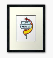 Lisa's Motel campy truck stop tee  Framed Print