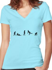 99 Steps of Progress - Situation comedy Women's Fitted V-Neck T-Shirt