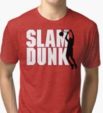 Basketball Slam Dunk Tri-blend T-Shirt