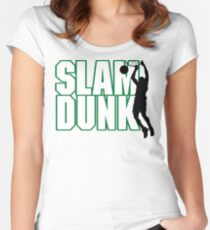 Basketball Slam Dunk Women's Fitted Scoop T-Shirt