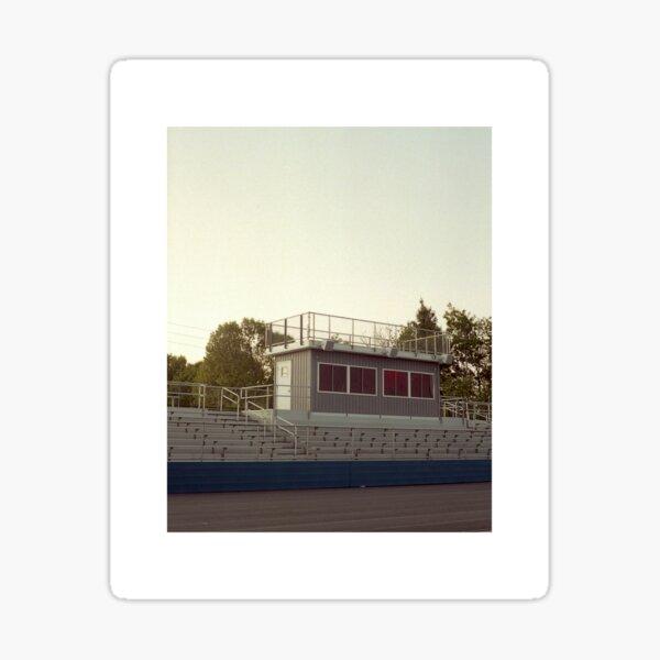 sunset at the stadium Sticker