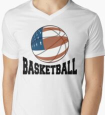 Basketball Mens V-Neck T-Shirt