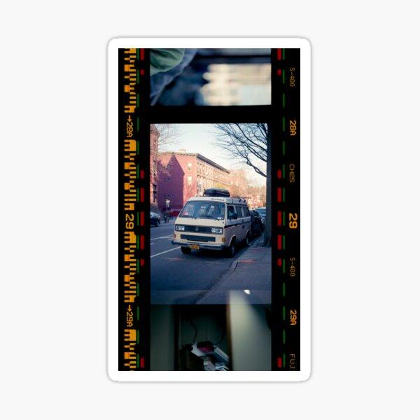 car in brooklyn filmstrip version Sticker