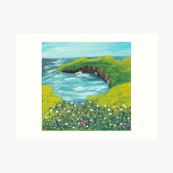 Sea Cliff Landscape  Art Print