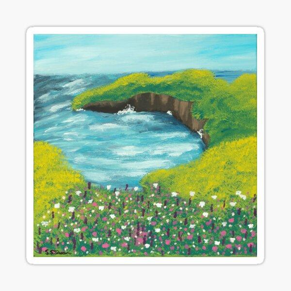 Sea Cliff Landscape  Sticker