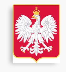 Coat of Arms of Government of Republic of Poland In Exile, 1956-1990 Canvas Print