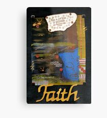 FAITH Banner Metal Print