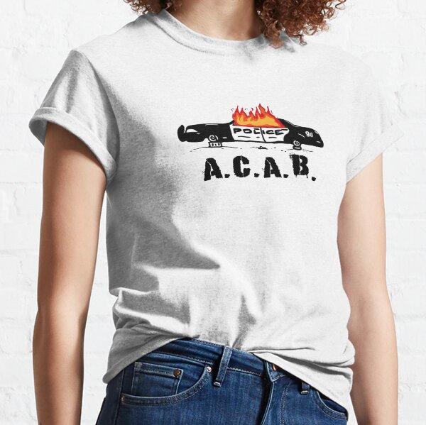 ACAB Burning Police Car Classic T-Shirt