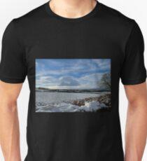 White Winter , Blue Winter Unisex T-Shirt
