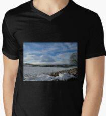 White Winter , Blue Winter Men's V-Neck T-Shirt