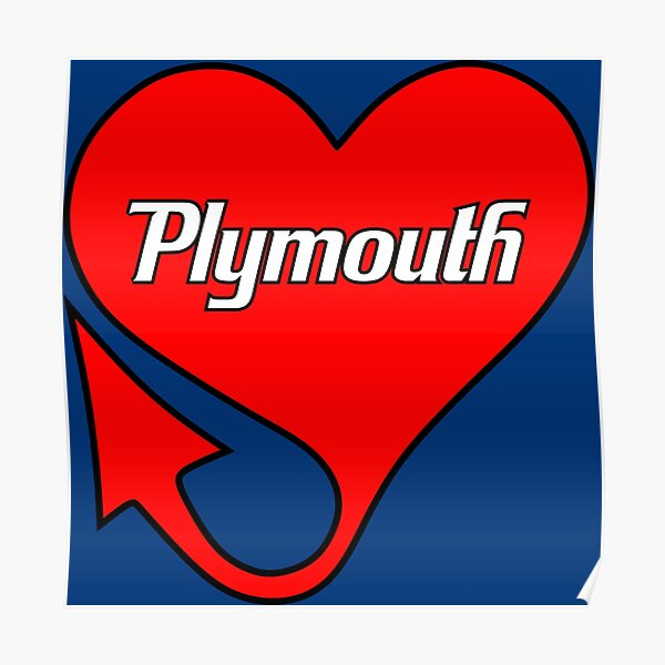 Plymouth Heart Poster