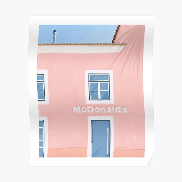 Art de voyage rose McDonalds Poster