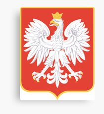 Coat of Arms of the Second Polish Republic, 1927-1939 Canvas Print