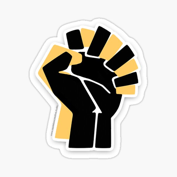 Black Community Ally Hands Together *Proceeds Donated* Sticker