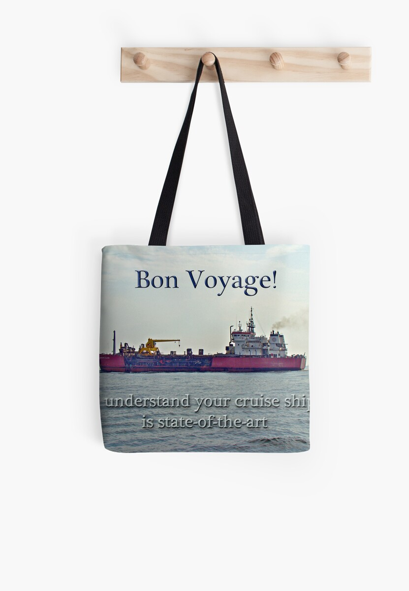 Bon voyage greeting card enjoy your cruise tote bags by bon voyage greeting card enjoy your cruise by mothernature kristyandbryce Image collections