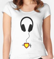 music beats Women's Fitted Scoop T-Shirt