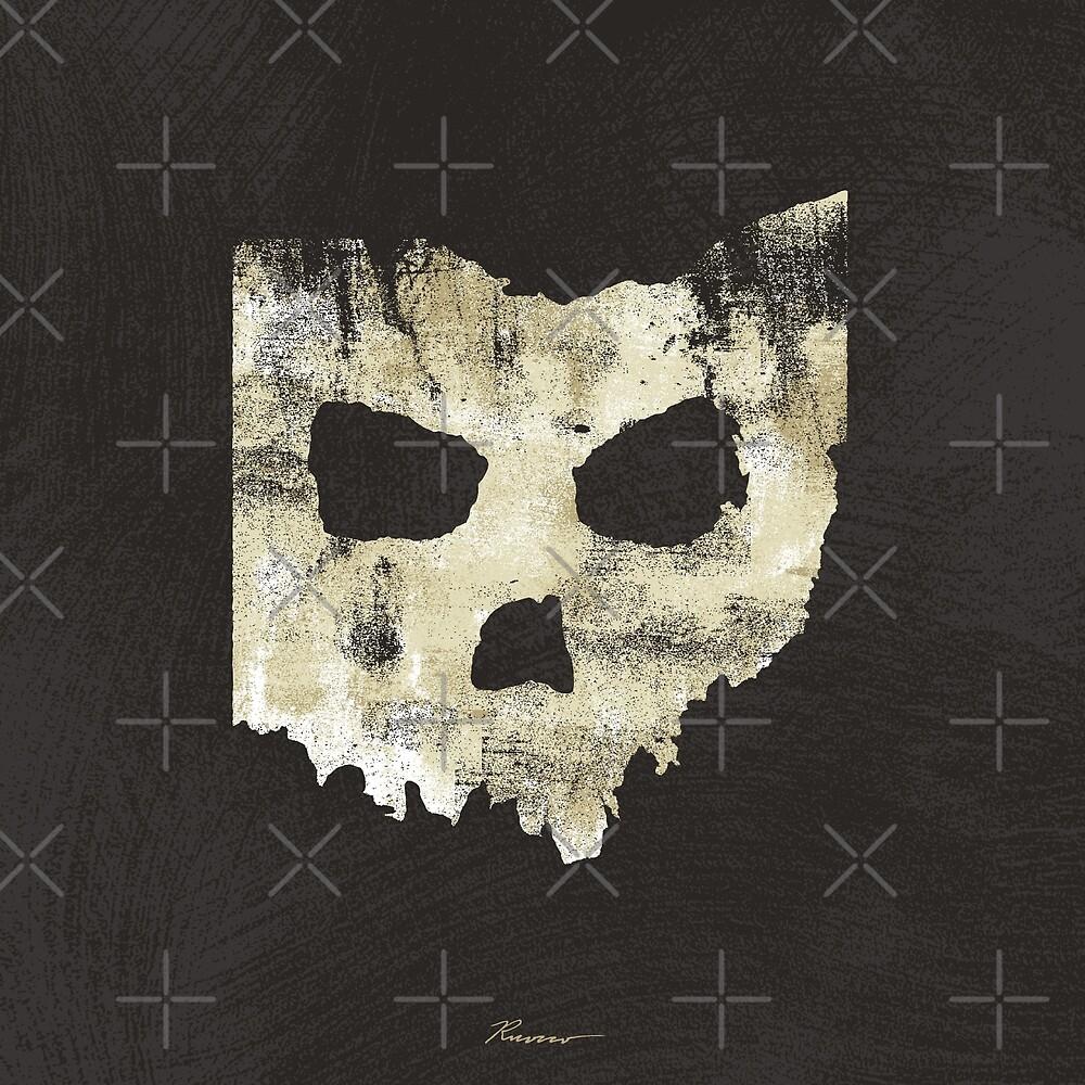 SKULLHIO - Ohio Shaped Skull by Will Ruocco
