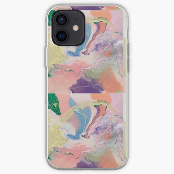 Shimmery Sweet Cotton Candy iPhone Soft Case