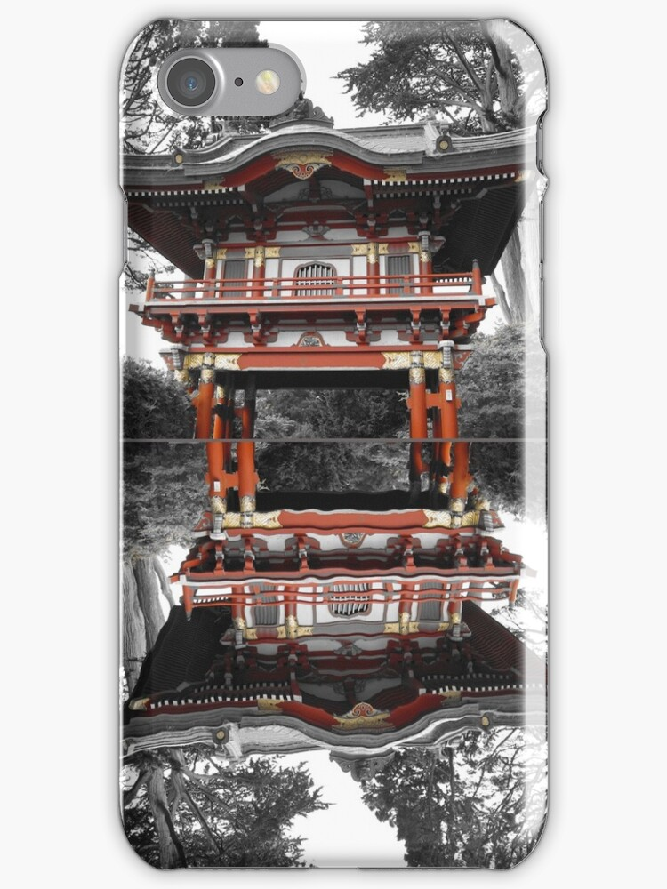 Pagoda with Reflection in Pond by Cole Palmer