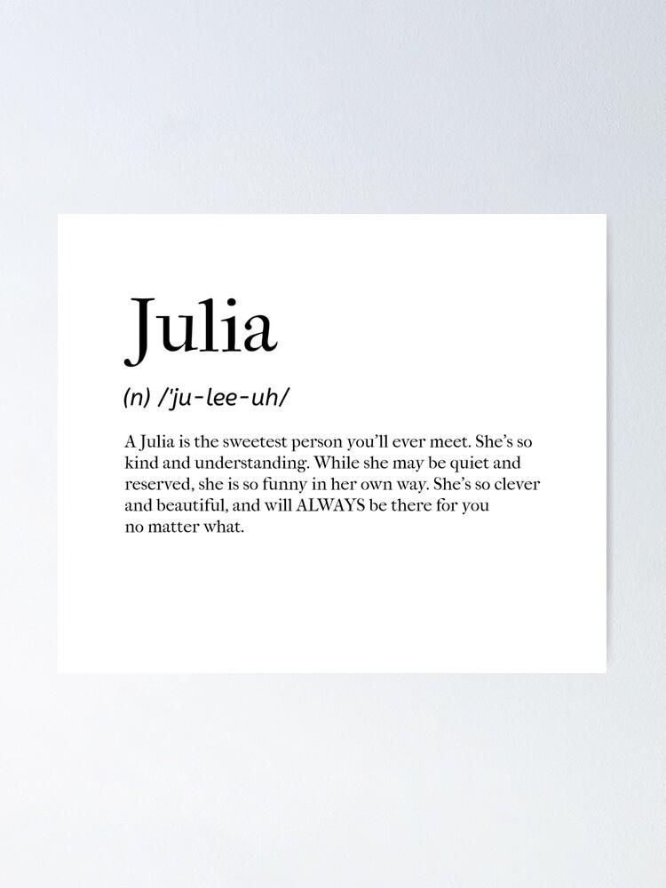 Julia Urban Dictionary