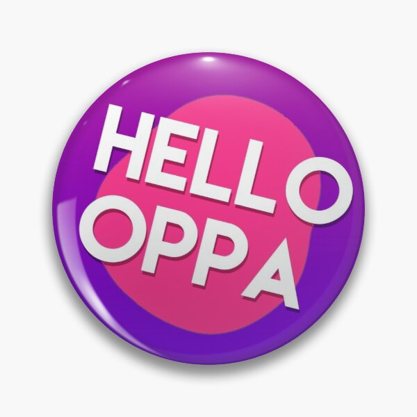 Hello oppa cute graphic Pin