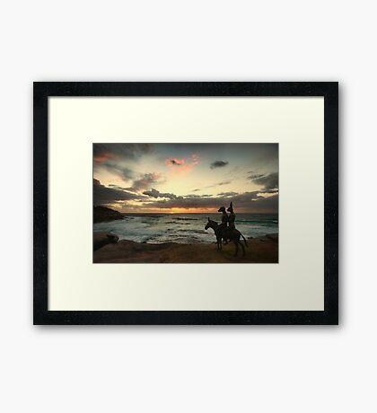 Waiting on Sunrise Framed Print