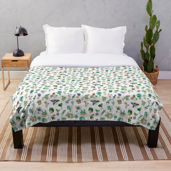 The Plant Alphabet Pattern Throw Blanket