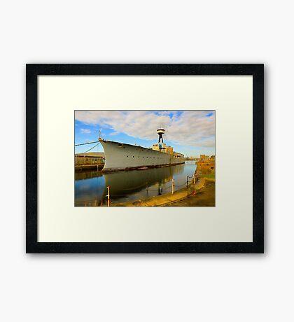 HMS Caroline Framed Print