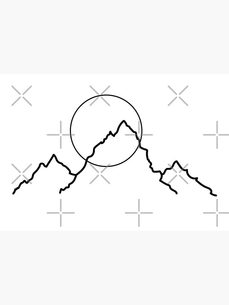 Mountain and Moon Minimalist Design by Ashleylcoop
