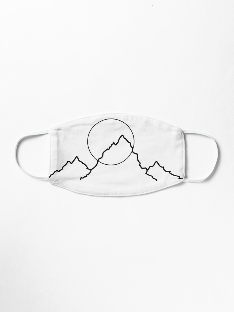 Alternate view of Mountain and Moon Minimalist Design Mask