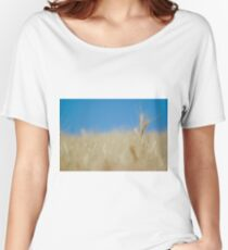 ripe Wheat field before harvest  Women's Relaxed Fit T-Shirt