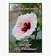 Peace, Love and Joy Christmas Card and Gifts Photographic Print