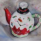 Funny little teapot by Karin Zeller
