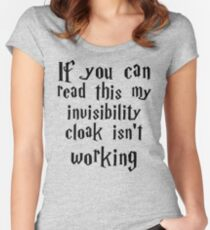 Invisibility cloak clothing Women's Fitted Scoop T-Shirt
