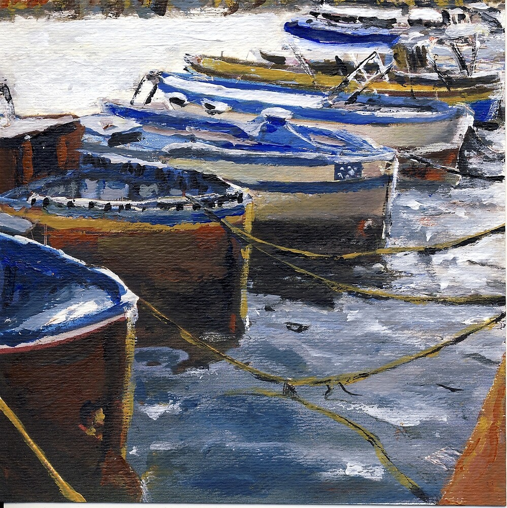 Fishing Boats in Procida by Randy Sprout