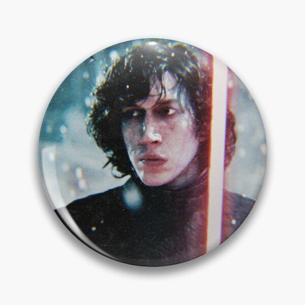 Adam Driver Snowing Red & Blue Kylo Pin