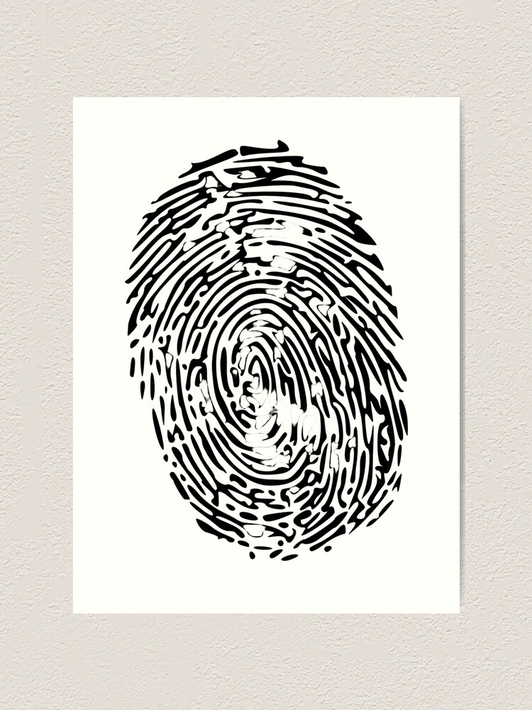 Fingerprint Forensics Art Print By Zezo7594 Redbubble