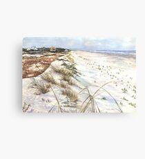 Morning Shadows on the Beach Canvas Print