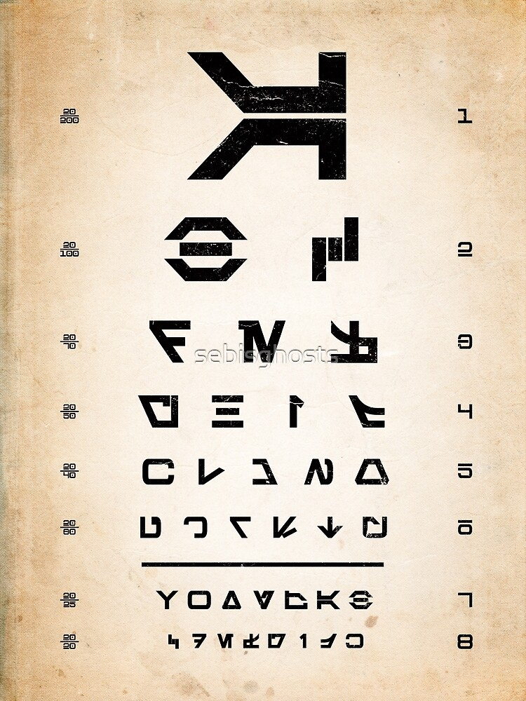 Aurebesh Eye Chart by sebisghosts