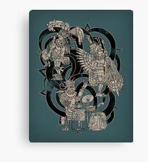 Ancient Jazztecs Canvas Print