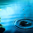 Water Droplets Blue/Green by jphphotography