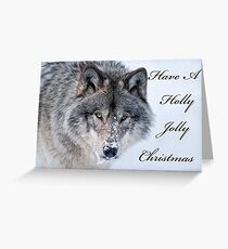 Christmas Card - Timber Wolf Greeting Card