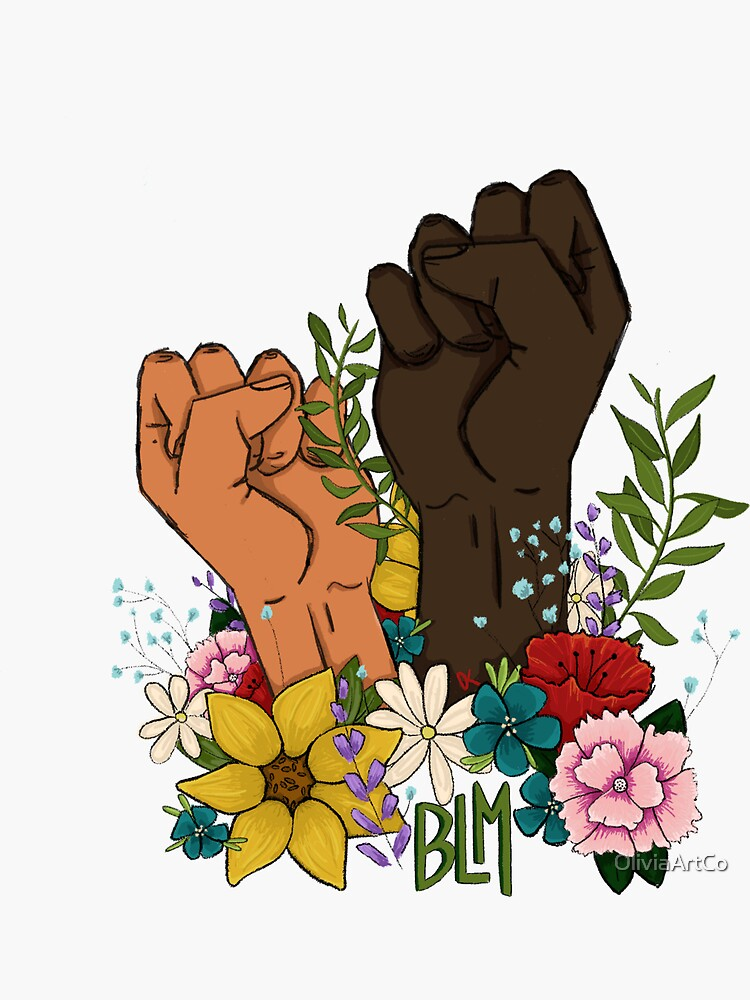 Black Lives Matter Fist by OliviaArtCo