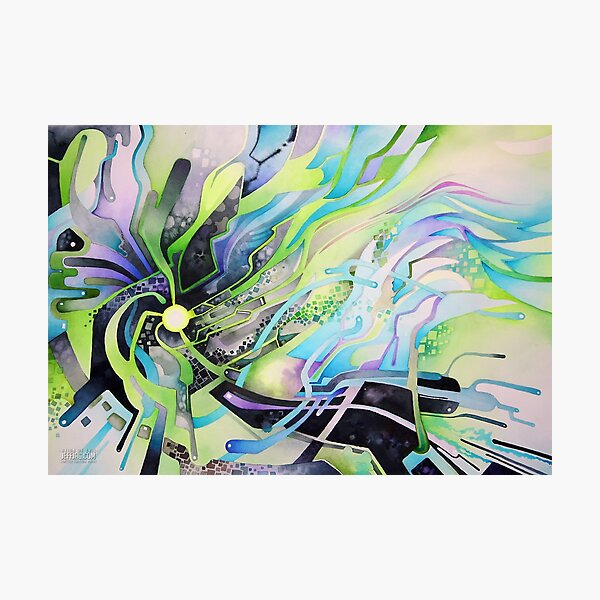 Axion of Evil - Watercolor Painting Photographic Print